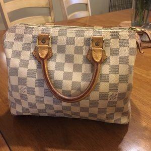 Louis Vuitton Handbags - Authentic Louis Vuitton Damier Azur Speedy 25 Bag