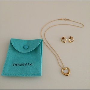 Tiffany & Co. Elsa Peretti Necklace & Earring Set