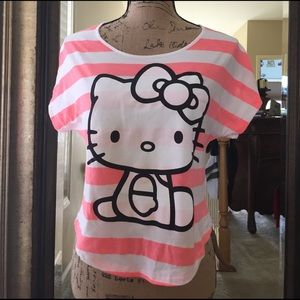 Hello Kitty Tops - 🐱Hello Kitty pink and white stripe crop top!