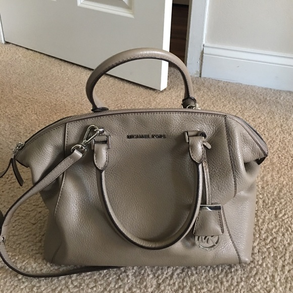 Taupe Michael kors bag.