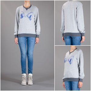MAISON KITSUNE Tops - Maison Kitsune Grey Fox Ears Sweatshirt sz S