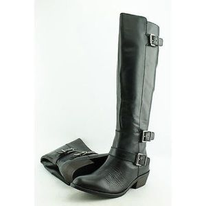 DOLCE VITA LEATHER KNEE HIGH MOTO BOOTS SZ 6.5