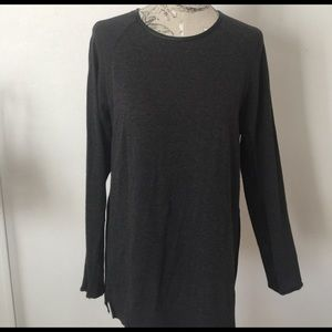 Andrew Marc Tops - Andrew Marc Gray/Black Long Sleeve Top L