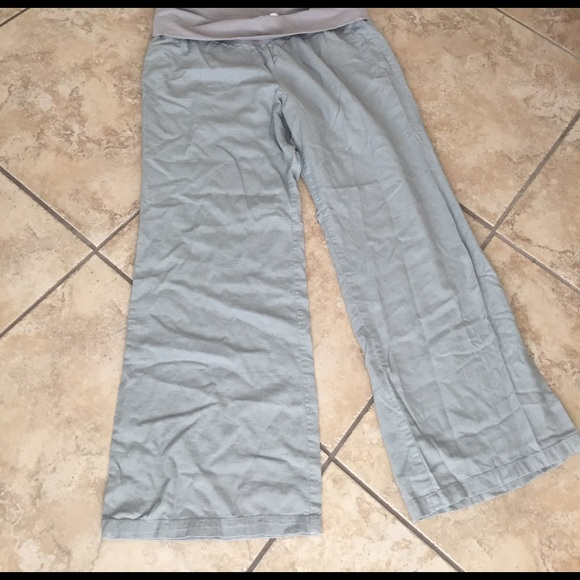 Old Navy Pants - 💋FINAL SALE💋Maternity linen wide leg pants
