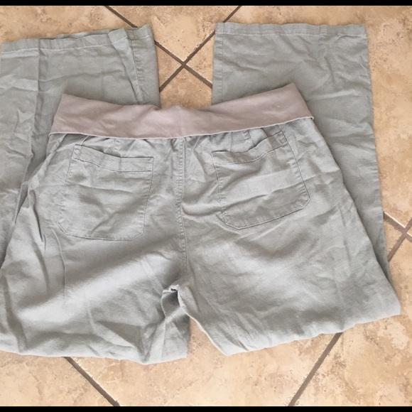 Old Navy Pants - Maternity linen wide leg pants size XL