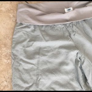 Old Navy Pants - 💋FINAL SALE💋Maternity linen wide leg pants