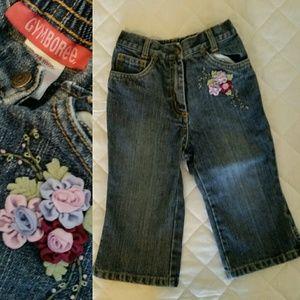 Gymboree Other - BOGO Gymboree Flower Applique Jeans