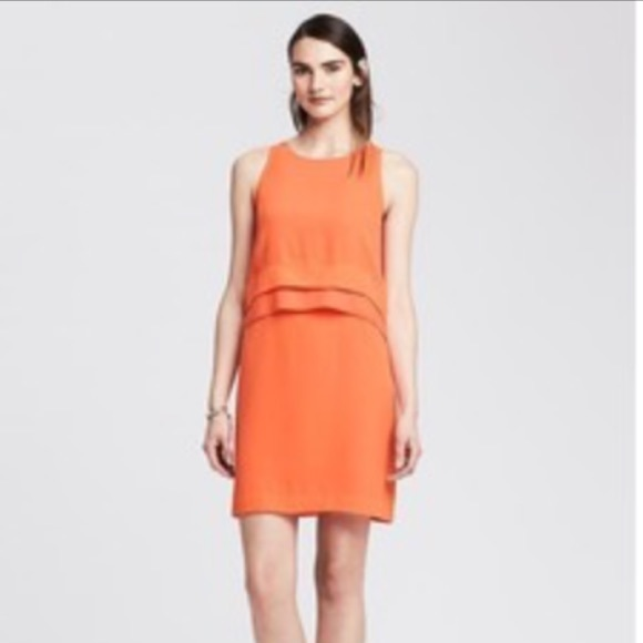 Banana Republic Dresses Nwt Orange Shift Dress Poshmark