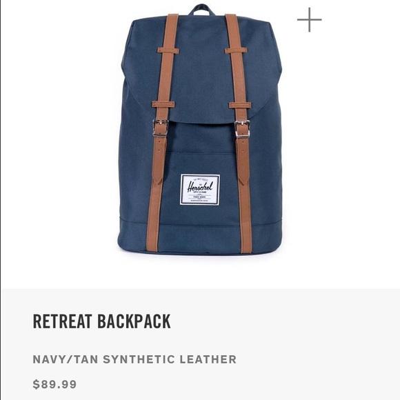 d40026298131 NWT Herschel Retreat Backpack-Navy Tan. Boutique. Herschel Supply Company