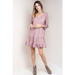 ✨NEW✨ ANGELES 3/4 Sleeve Mini Dress