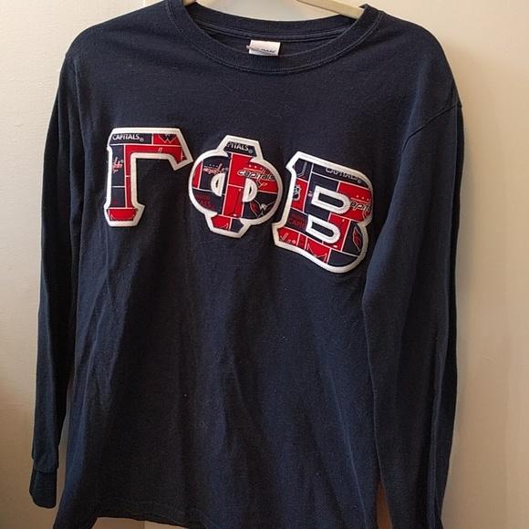gamma phi beta capitals hockey letter shirt