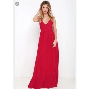 Lulu's Dresses & Skirts - NWOT LULUS RED MAXI PROM DRESS