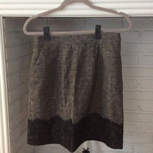 Tweed and Lace Skirt