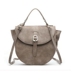 Handbags - Grey minimalist cross body.