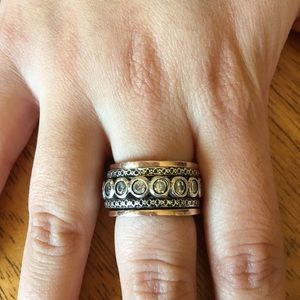 Dyadema Jewelry - SS and 14K rose gold plated spinner ring