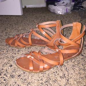 Stella Jean Shoes - Tie up tan sandals
