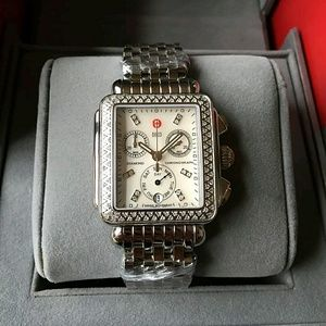 Michele  Accessories - NWT Authentic Michele diamond ladies watch
