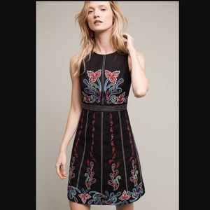 Anthropologie Maeve embroidered dress