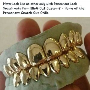 6 Permanent Look Custom Gold Grillz aka Gold Teeth Boutique