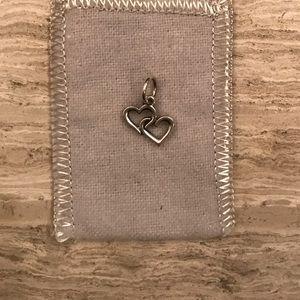 James Avery Jewelry - James Avery Double Heart Charm   Retired