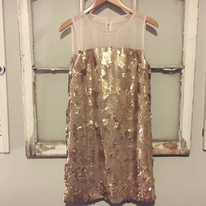 Arynk gold sequin dress from Bloomingdale's