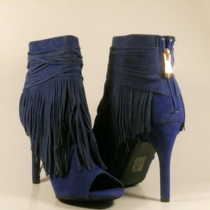 Shoes - NAVY FRINGE BOOTIES🌸🌸