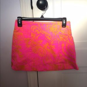 Lilly Pulitzer pink and orange skirt