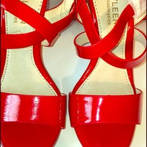 NEW Red Wedges Size 6.5