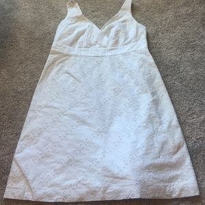 Vineyard Vines white eyelet dress.