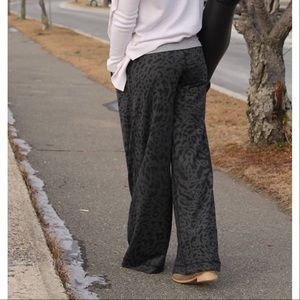 913a0cdfe lululemon athletica Pants - Lululemon Forward Fold Leopard Gray Wide Leg  Pants