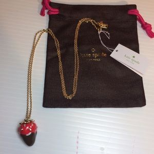 kate spade Jewelry - NWT Kate Spade Long Strawberry Necklace