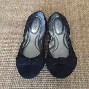 Me Too Black Suede Flats Size 7