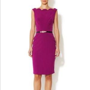 Ava & Aiden Dresses & Skirts - Classy Scallop Midi Dress
