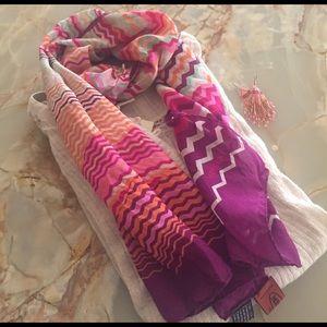 Missoni Accessories - Missoni 100% Silk Multi Colored Chevron Scarf