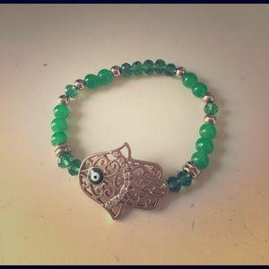 Jewelry - Hamsa evil eye bracelet