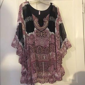 Free People Tunic Dress (Paisley)