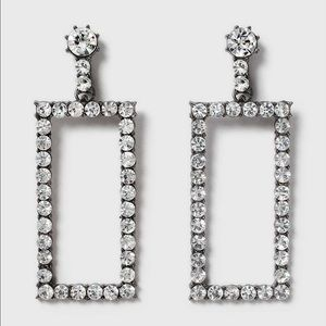 Topshop Jewelry - Topshop Gem Rectangle Earrings