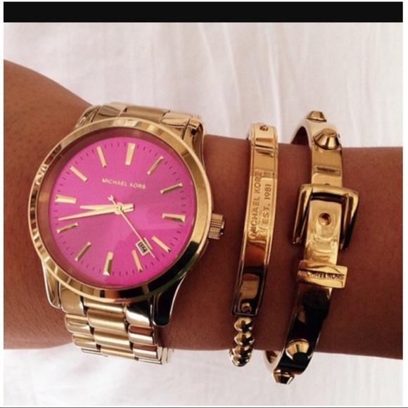 3726e943348ee 💫Michael Kors💫 Rose Gold Plaque Beaded Bracelet.  M 58ee6351eaf03043fd0b6a4d