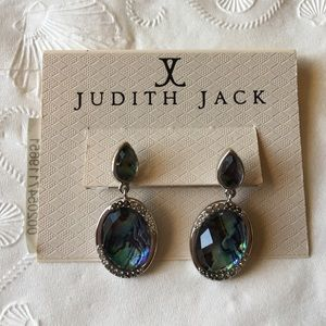NWT Judith Jack sterling silver earrings
