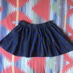 Zara Blue Tartan Plaid Skater Skirt