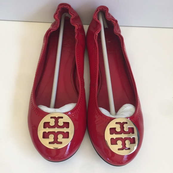 79d5395cb30 Tory Burch reva ballet flats patent leather red 6.  M 5896478ea88e7dcb110198bc
