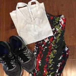 Onzie Pants - NWT Onzie Red Green Hot Yoga Fitness Leggings