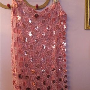 Accessories - Trendy New Dressy Pink Sequin Scarf