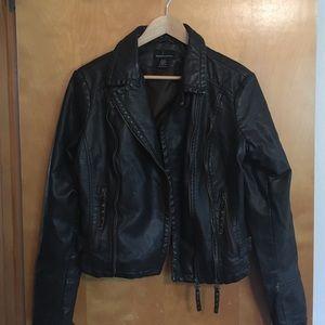 Moda International Jackets & Blazers - Moda International Faux Leather Jacket