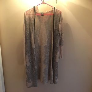 Long hooded cardigan barely worn