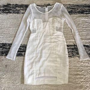 Shakuhachi Dresses & Skirts - Shakuhachi white linen and cotton mesh dress