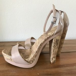 Jessica Simpson Shoes - Blush Cork Platform heels 7.5