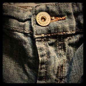 Vintage skinny TALL plus size jeans dark denim