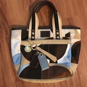 Coach Handbags - Coach Signature Scarf Print Mini Tote