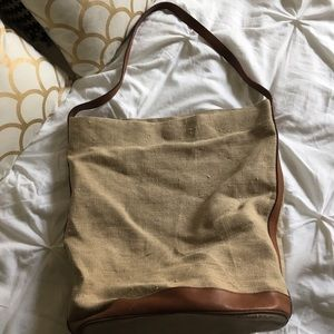 Leather rustic tote bag